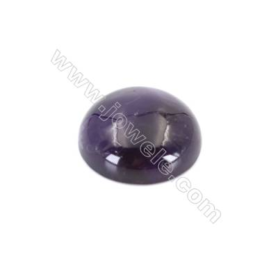 Natural flat back amethyst cabochon  round cabochon  Size 16mm  10pcs/pack