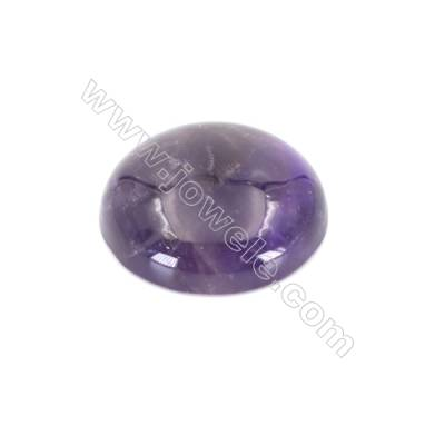 Natural flat back amethyst cabochon  round cabochon  Size 20mm  10pcs/pack
