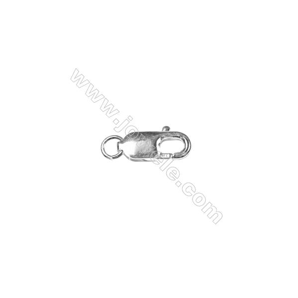 Lobster clasp in 925 sterling silver, 7x16mm, x 10 pcs