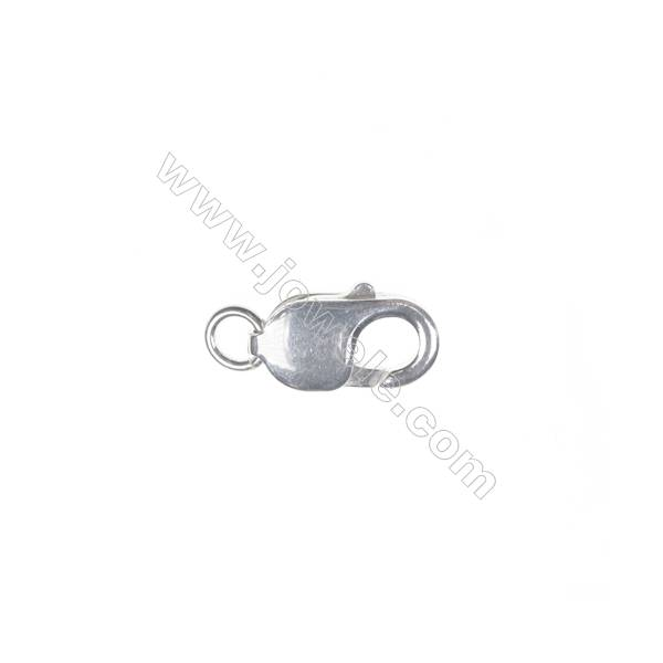Lobster clasp in sterling silver, 10x18 mm, x 5 pcs