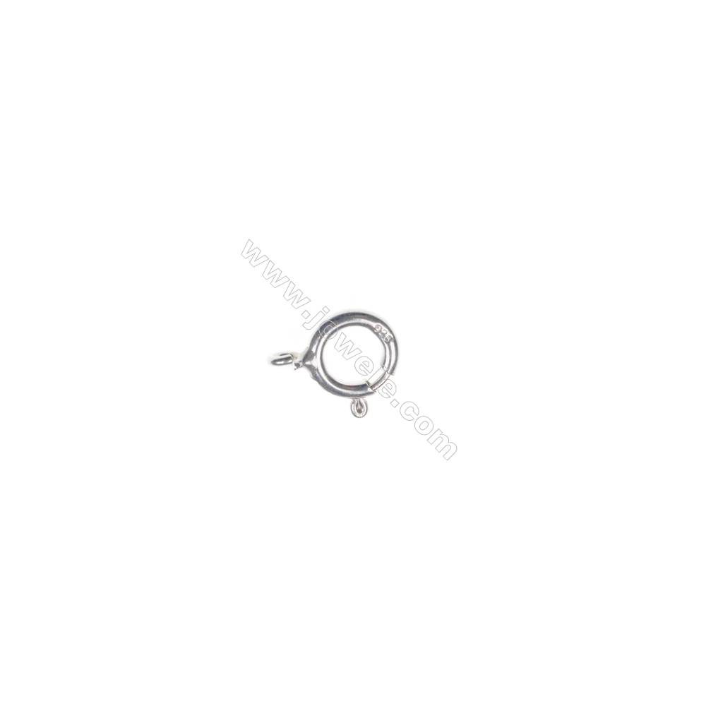 Sterling Silver Spring Clasp, 6x8mm, x 100pcs