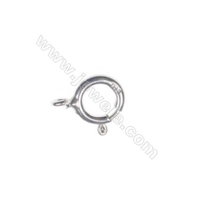 Sterling Silver Spring Clasp, 7x8 mm, x 100 pcs