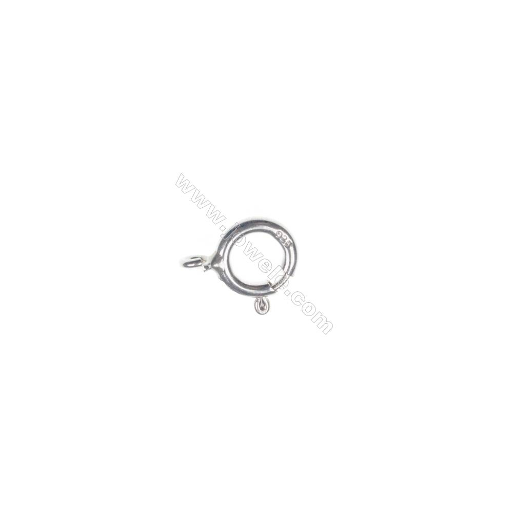 925 Sterling silver spring Clasp, 9x11 mm, x 40 pcs