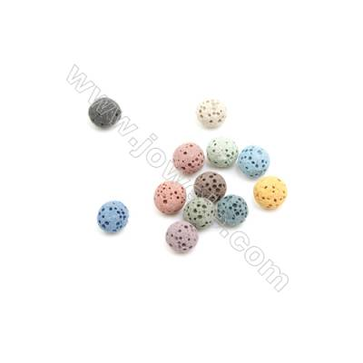 6mm Multicolored Lava Rock Loose Beads, Round, 500pcs/pack