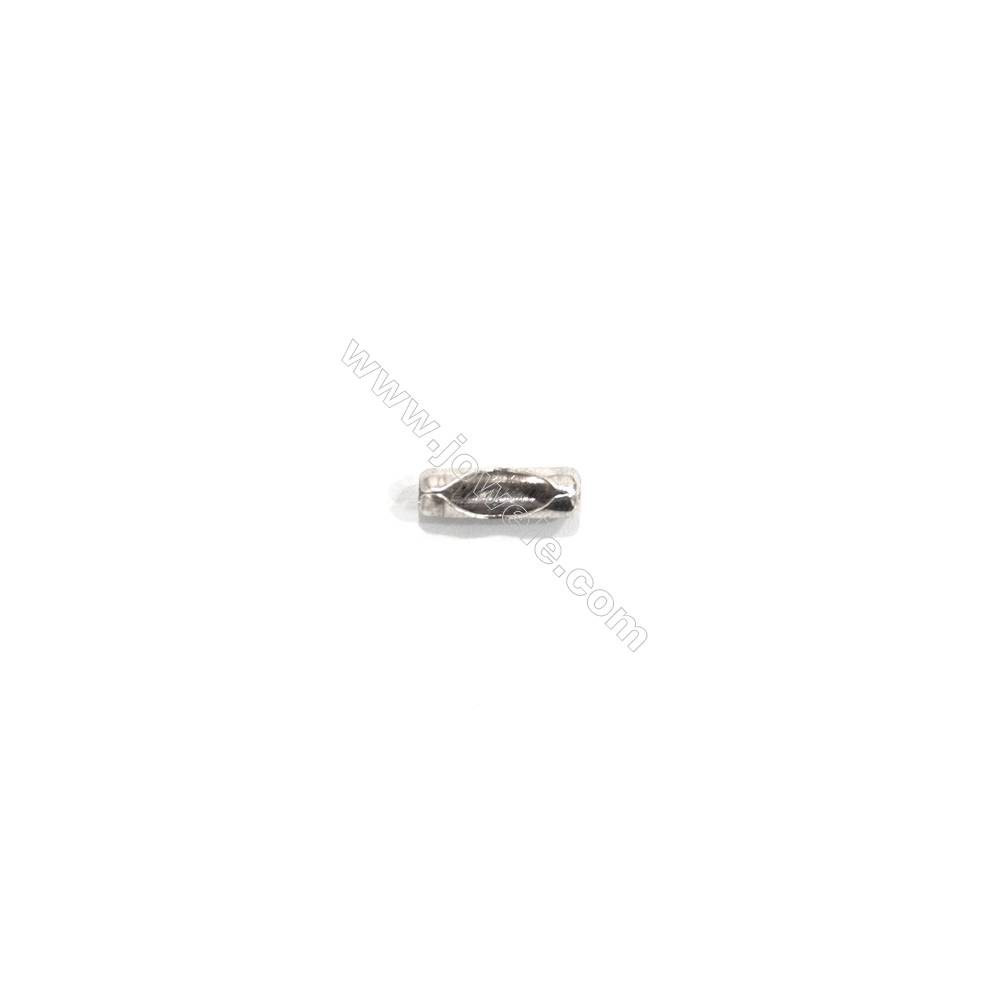 925 sterling silver ball chain connector clasp, 3x10mm, x 60 pcs