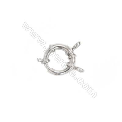 925 sterling silver spring ring clasps connection for necklace bracelet DIY Buckle, 14 mm, x 5 pieces