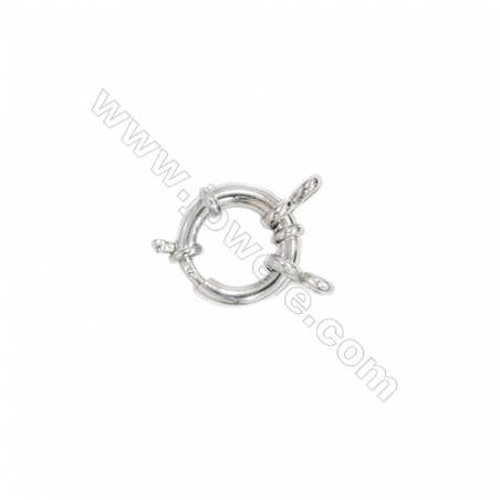 925 sterling silver spring ring clasps for necklace bracelet, 12mm, x 5pcs