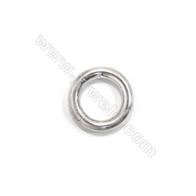 Smooth round real 925 sterling silver spring lock clasps for fine jewellery making, 16mm, x 5 pcs