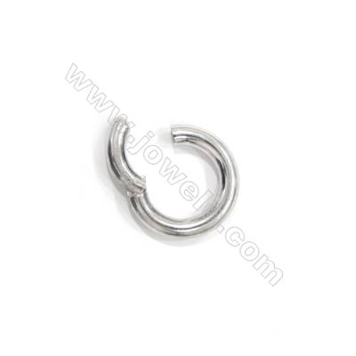 Smooth round real 925 sterling silver spring lock clasps for fine jewellery making 16mm x 5 pcs