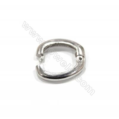 Sterling silver 925  square spring lock clasp 14x18 mm x 5 pcs