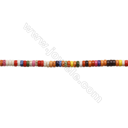 Howlite Column Beads Strand  Dyed  Size 3x6mm  Hole 0.8mm  about 133 beads/strand 15~16""