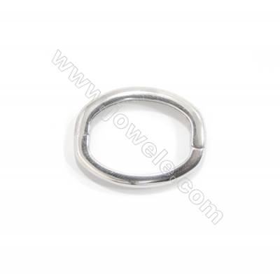 925 Sterling silver movable square ring clasp, 19x25 mm, x 5pcs