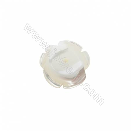 White mother-of-pearl rose shell 12mm  hole 1.0mm  30pcs/pack