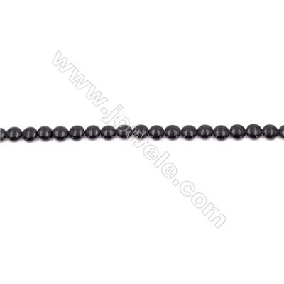 Natural Black Agate Beads Strands  Flat Round  8mm  Hole: 1mm   49 beads/strand  15~16''