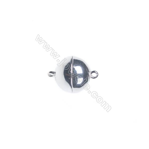 Sterling silver 925 magnetic clasp, 12 mm, x 5 pcs
