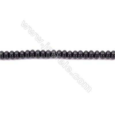 Natural Black Agate Beads Strands  Abacus  6x10mm  Hole: 1mm about 66 beads/strand  15~16''