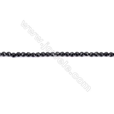 Faceted Black Agate Beads Strands Round  3mm  Hole 0.8mm  about 131 beads/strand  15~16''