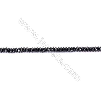 Natural Black Agate Beads Strands Faceted Abacus  2x4mm  Hole: 1mm  about 180 beads/strand  15~16''
