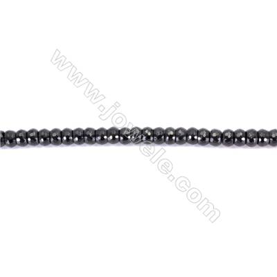 Natural Black Agate Beads Strands Faceted Abacus  5x8mm  Hole: 1mm  78 beads/strand  15~16''