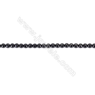 Faceted Black Agate Beads Strands Round  6mm  Hole 1mm  about 66 beads/strand  15~16''