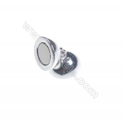 Sterling silver 925 magnetic clasp 12 mm x 5 pcs