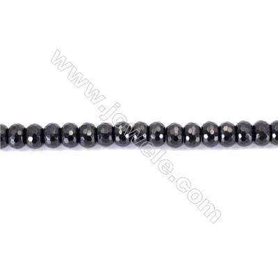 Natural Black Agate Beads Strands Faceted Abacus  8x12mm  Hole: 1mm  about 49 beads/strand  15~16''
