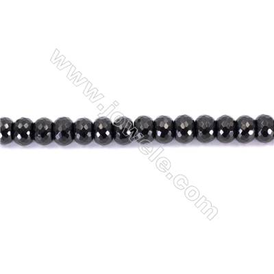 Natural Black Agate Beads Strands Faceted Abacus  10x14mm  Hole: 1.5mm   about 40 beads/strand  15~16''