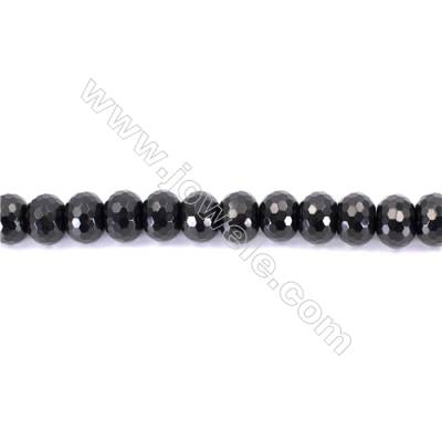 Natural Black Agate Beads Strands Faceted Abacus  12x16mm  Hole: 1.5mm  about 33 beads/strand  15~16''