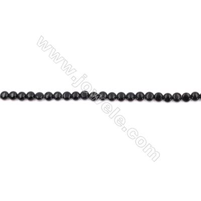 Black Agate Beads Strands Flat Round  6mm  Hole 0.8mm  about 22 beads/strand  15~16''