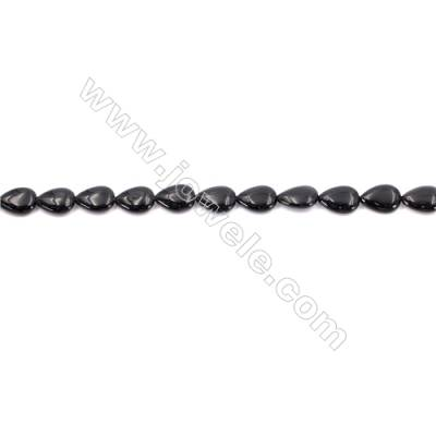 Black Agate Beads Strands Waterdrop  9x13mm  Hole: 1mm about 31 beads/strand  15~16''
