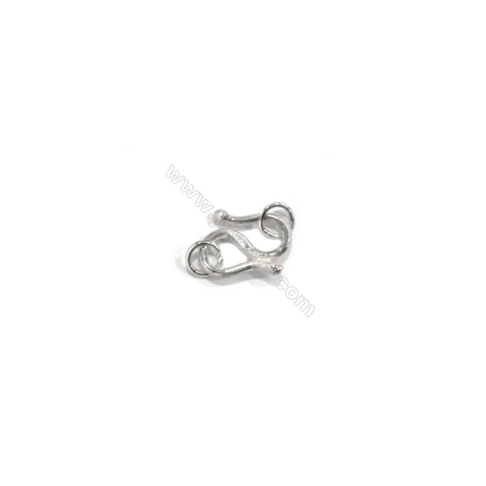 Sterling Silver S Toggle Clasp, 7x10mm, x 30 pcs