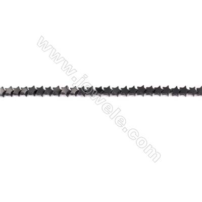 Black Agate Beads Strands Star  6x6mm  Hole: 1mm about 76beads/strand  15~16''