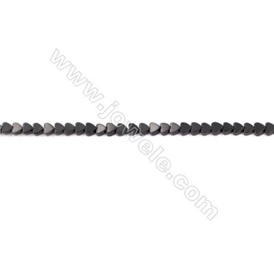 Black Agate Beads Strands Heart Shape  4x4mm  Hole: 0.8mm about 107 beads/strand  15~16''