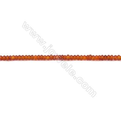 Red Agate Beads Strands Abacus  3x5mm  Hole: 1mm about 145 beads/strand  15~16''