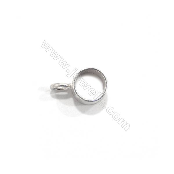925 Sterling Silver Links, Size 6x10mm, 40 pcs/pack