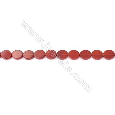 Red Agate Beads Strands Oval  10x12mm  Hole: 1mm about 33 beads/strand  15~16''