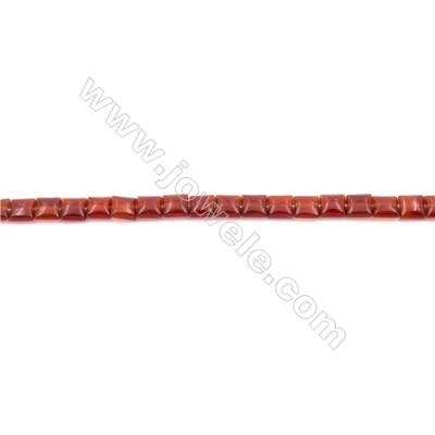 Red Agate Beads Strands  Square   8x8mm  Hole: 1mm about 50 beads/strand  15~16''