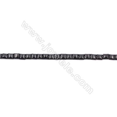 Natural Black Agate Beads Strand  Square  Size  6x6mm   Hole 1mm   About 67 beads/strand 15~16''