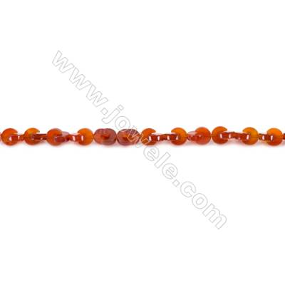 Natural Red Agate Beads Strands  5x8mm  Hole: 1mm about 78 beads/strand  15~16''