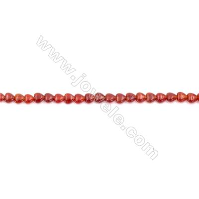 Red Agate Beads Strands Heart Shape  6x6mm  Hole: 0.8mm about 72 beads/strand  15~16''