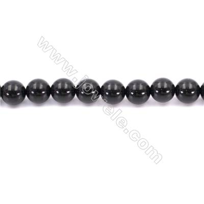 Natural Black Agate Beads Strand  Round  Diameter  10mm   Hole 1mm   About 39 beads/strand 15~16''