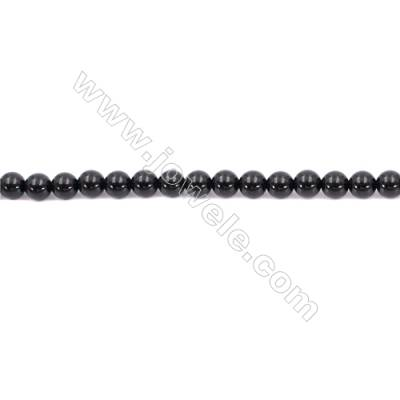 Natural Black Agate Beads Strand  Round  Diameter  6mm   Hole 1mm   About 65 beads/strand 15~16''