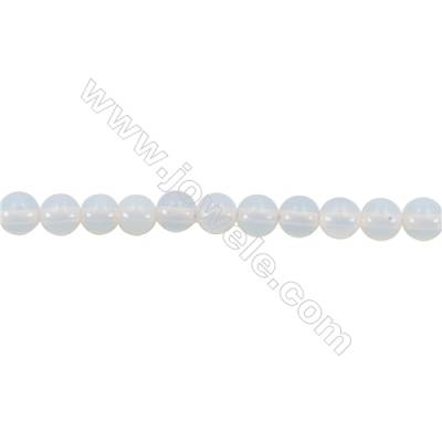 Synthetic Gemstone Opal Beads Strand  Round  diameter 2mm   hole 0.4mm   about 173 beads/strand 15~16''