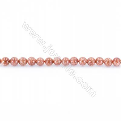 Natural Gold Sandstone Beads Strand, Round, Diameter 2mm, Hole 0.4mm, about 173 beads/strand 15~16""