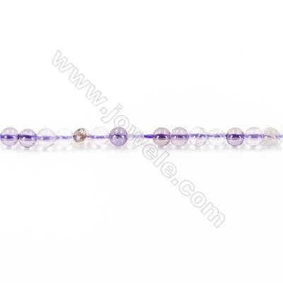 Natural  Purple Fluorite Beads Strand  Round  diameter 2mm   hole 0.4mm   about 166 beads/strand 15~16''