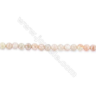 Natural Chinese Unakite Beads Strand  Round  diameter 2mm   hole 0.4mm   about 170 beads/strand 15~16''