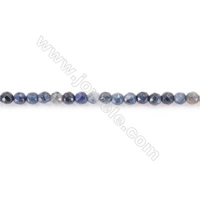 African Blue Stone Beads Strand  Round Diameter 3mm  hole 0.7mm  about 196 beads/strand 15~16""