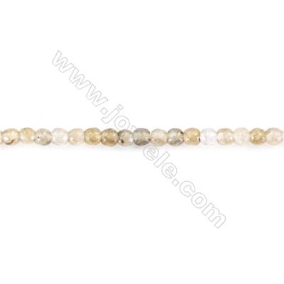 Natural Faceted Labradorite spectrolite Beads  Round jasper beads diameter 2mm   hole 0.4mm   about 188 beads/strand 15~16''