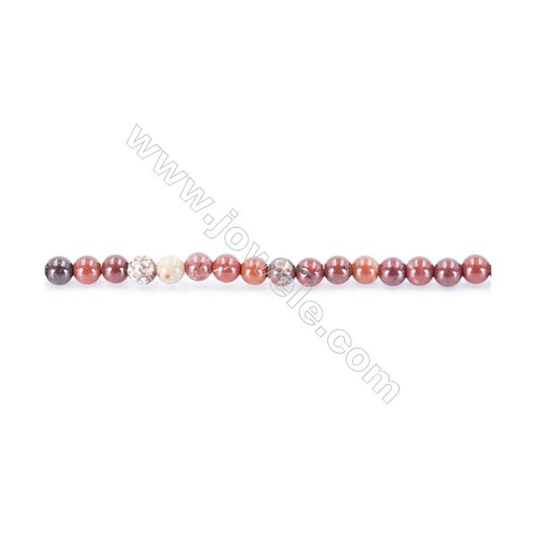 Natural Mookaite Beads Strand  Round diameter 2mm   hole 0.4mm   about 173 beads/strand 15~16''