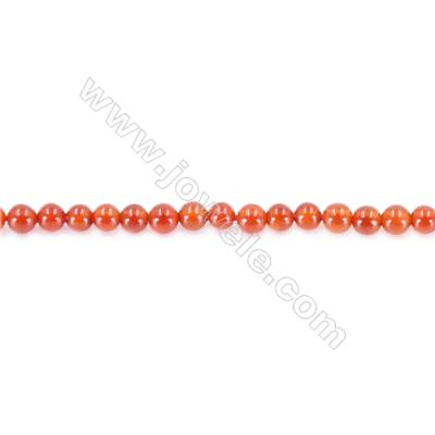 Natural Red Agate Beads Strand  Round  diameter 2mm   hole 0.4mm   about 200 beads/strand 15~16''